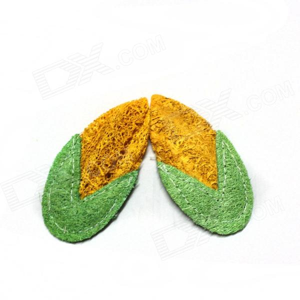 Pet Dental Care Corns - Green + Orange (2 PCS) - DXPet Toys<br>Brand N/A Model N/A Quantity 2 piece(s) per pack Color Green + orange Material Loofah Suitable Pet Dog Specification Can be used for pets to play throwing game made of loofah pets bite when cleaning non-toxic Packing List 2 x Pet dental care corns<br>