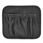 Elegant PU Leather Self-Adhesive Sticky Car Storage Bag - Black