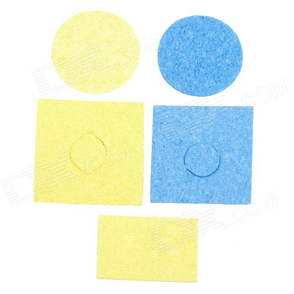 WLXY WL-501 5-in-1 Cleaning Cottons Set for Soldering Iron Head - Yellow + Blue