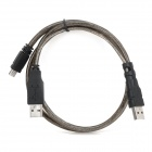 Unitek Y-C436  USB 2.0 Male to Mini USB Male Data Cable for Mobile HDD - Grey + Black