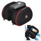 INBIKE Bicycle Top Tube Double Bag - Black