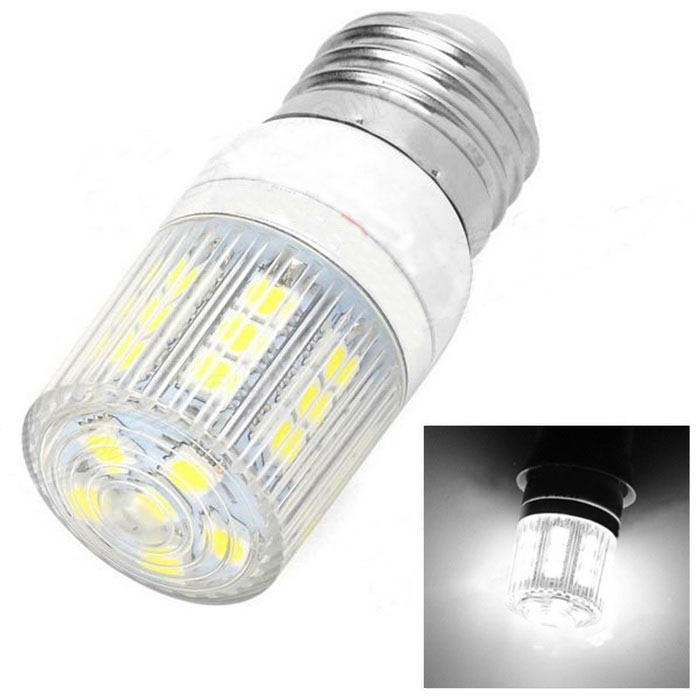 Lexing Lighting LX-YMD-060 E27 3W 200lm 7000K White 27-SMD 5050 LED Light Bulb - Silver + White