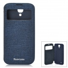 NEWTONS Protective PU Leather Case w/ Display Window for Samsung Galaxy S4 i9500 - Blue
