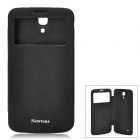 NEWTONS Protective PU Leather Case w/ Display Window for Samsung i9200 - Black