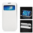 NEWTONS Protective PU Leather Case w/ Display Window for Samsung Galaxy S4 i9500 - White