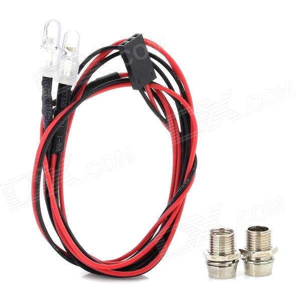 2 White Light Module w/ Lamp Cup for R/C Car Model - Black + Red adjustable short straight clutch brake levers for suzuki rgv 250 rgv250 gsx 600 f gsx600f sv 650 n s gsx r 750 w 1990 1995