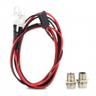 2 White Light Module w/ Lamp Cup for R/C Car Model - Black + Red