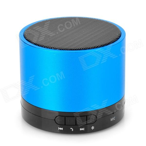 788F Universal Rechargeable Bluetooth V3.0 Speaker w/ Microphone / TF - Blue + Black sk s10 universal mini portable bluetooth v2 1 speaker w tf microphone light golden black