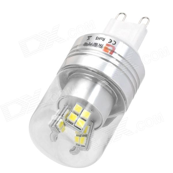 Lexing Lighting LX-YMD-042 G9 3W 230lm 7000K White 24-SMD 2835 LED Light Bulb - Silver lexing lx lzd 3 e14 3w 200lm 7000k 6 smd 5730 led white light bulb 85 265v