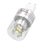 Lexing Beleuchtung LX-YMD-042 G9 3W 230lm 7000K weiße 24-SMD 2835 LED Glühbirne - Silber