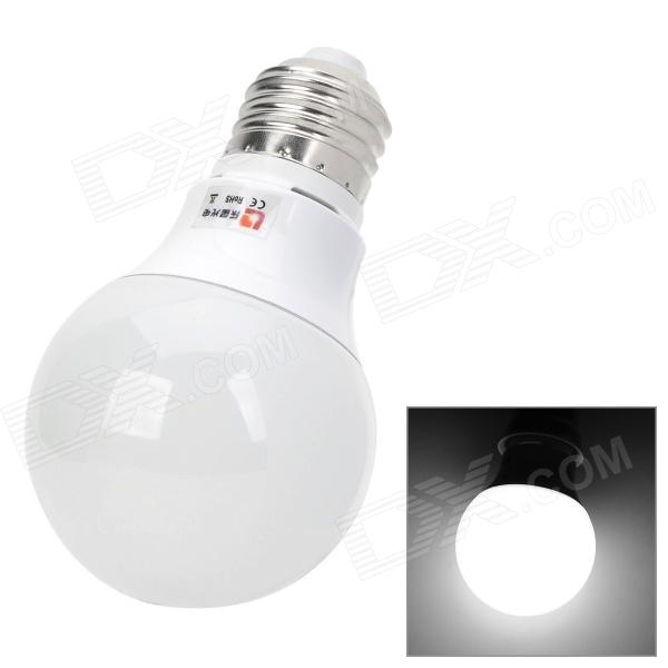Lexing Lighting LX-QP-6 E27 3W 190lm 7000K White 6-SMD 5730 LED Light Bulb - White + Silver lexing lx qp 20 e14 6w 470lm 3500k 15 5730 smd led warm white light dimmable lamp ac 220 240v