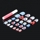 3D Rhinestone Decoration Nail Art Sticker - Multicolor