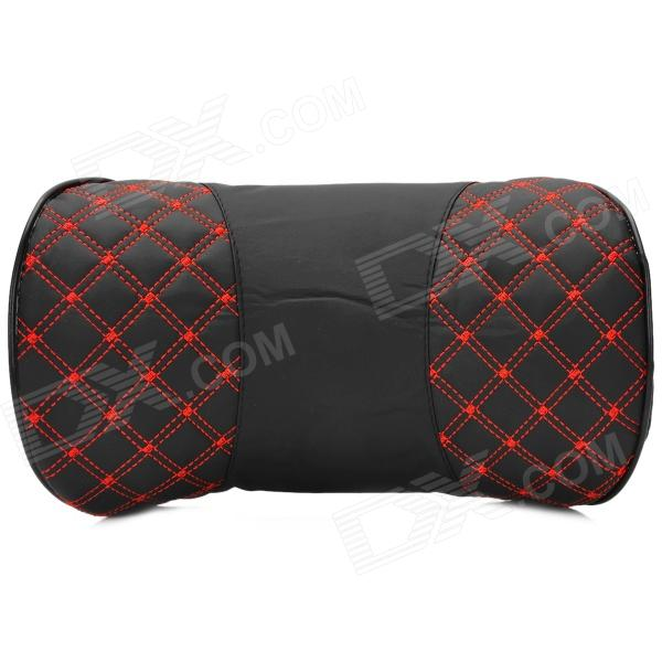 Super Fiber Leather + Memory Cotton Car Neck / Head Support Cushion / Pillow - Black + Red от DX.com INT