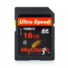MAXCHANGE Ultra-speed Flash Memory SDHC Card - Black + Red (16GB / Class 10)