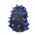 Fashion Hedgehog PU Leather Spike Punk Backpack - Black + Blue