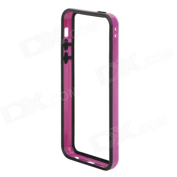 Stylish Protective Plastic + TPU Bumper Frame for Iphone 5C - Black + Purple stylish protective plastic bumper frame case for iphone 5c beige black