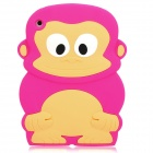 Cute Monkey Style Protective Silicone Back Case for Ipad MINI - Deep Pink