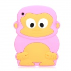 Cute Monkey Style Protective Silicone Back Case for Ipad MINI - Pink