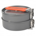 FireMaple 1 ~ 2 Person Outdoor Camping Kochen Aluminium Alloy Pot Set - Orange + Grau