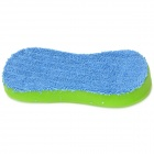 2-in-1 Car Compressed Sponge Car Wash Towel - Green + Blue