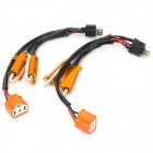 H4 Ceramic Plug Resistance Wire - Black + Orange + Golden