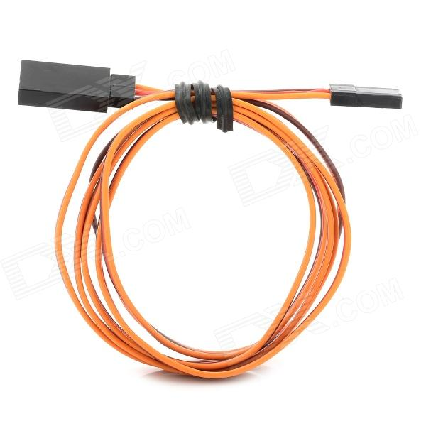 JR Male to Female Connection Cable for R/C Model - Red + Orange + Brown (100cm)
