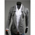 REVERIE UOMO Character Design without Button Coat for Men - Grey (Size-XL)