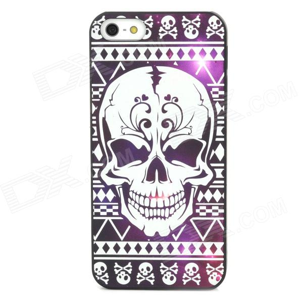 Noctilucence Evil Skeleton Pattern Protective Plastic Case for Iphone 5 plastic standing human skeleton life size for horror hunted house halloween decoration