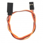 300mm Futaba JR 30cm 26AWG Cable universal Servo Extension - Red + Brown + Anaranjado