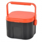 E5XTD Dual-Layer Fresh Fishing Bait Storage Box w/ Tweezers - Orange + Black