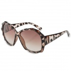 Fashionable Diamond Shaped Detail Frame UV400 Sunglasses - Black + Brown