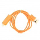 USB to 8-Pin Lightning / Micro USB Data/Charging Cable for iPhone 5 / Samsung i9300 / i9200 - Orange