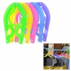 Outdoor Portable Folding Plastic Clothes Hangers - Multicolored (5 PCS)