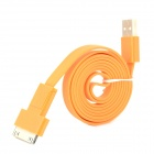 USB 2.0 to 30-Pin / Micro USB Data/Charging Flat Cable for iPhone 4 / 4S / Cell Phone - Orange