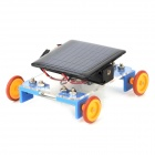DIY Asamblea Solar Power Toy Car - Blue + Negro + Naranja