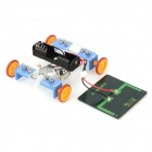DIY Assembly Solar Power Car Toy - Blue + Black + Orange