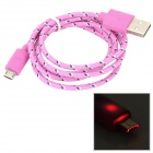 USB Male to Micro USB Male Data Sync & Charging Cable - Pink + White + Black (100cm)