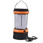 SingFire SF-805B Solar Power Rechargeable 100lm 4-LED Camping Lantern Light - Black + Orange + White