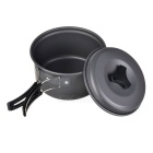 Portable Outdoor Camping Cooking Pot Set - Black Grey (2~3 People)