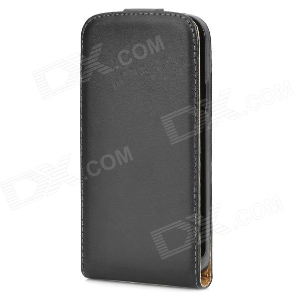PU cuir de chiquenaude de protection Case Open pour Samsung Galaxy i9295 S4 active - Noir