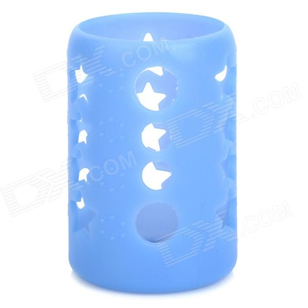 GEL237 Shockproof Heat Insulating Silicone Cover for 120ml Feeder / Nursing Bottle - Blue