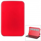 K88 Wireless 61-Key Bluetooth V3.0 Keyboard Case w/ Dormancy Function for Samsung N5100 - Red
