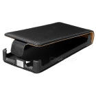 Stylish Up-Down Flip-Open PU Leather Case for Sony Xperia U / ST25i - Black