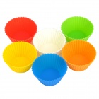 Convenient Cupcake Making Soft Silicone Cup Set - Multicolored (6 PCS)
