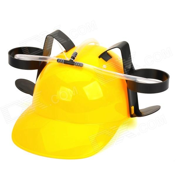 Unique Beer Drinking Hard Hat (Yellow)
