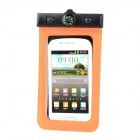 Stylish PVC + Plastic Waterproof Bag w/ Strap / Compass for Samsung S4 i9300 S3 i9100 - Orange