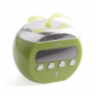 PORTWORLD K66B Mini Portable USB Charge Speaker w/ FM / TF Card / USB - Green + Silver