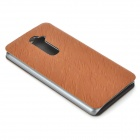 PUDINI Protective PU Leather Flip Open Case for LG Optimus G2 - Brown