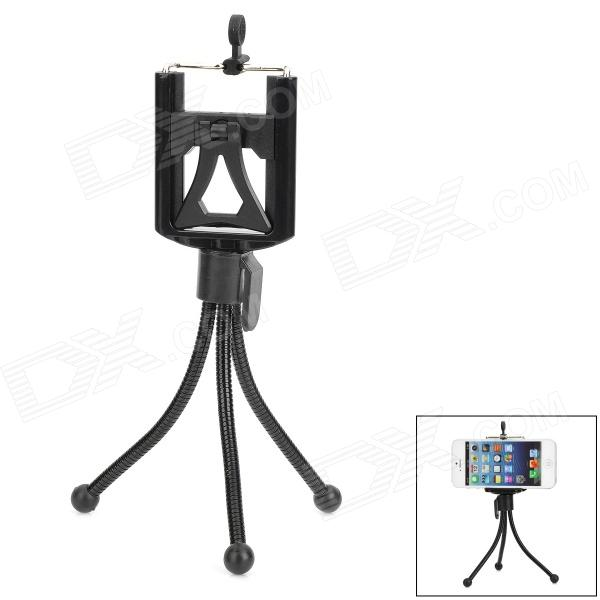 Universal Adjustable Tripod Stand Holder for Cell Phone - Black universal swivel tripod stand holder for cell phone camera black