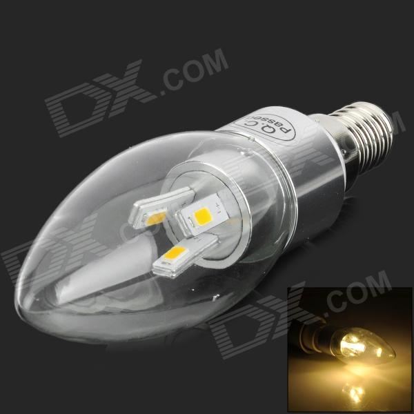 E14 IC Chip 3W 270lm 2700K 5730 LED Warm White Candle Bulb - Silver